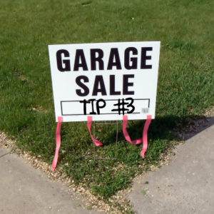Garage Sale Tip #3 – Turn $2.50 into $20 Over and Over