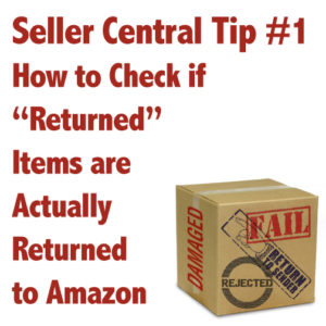 Seller Central Tip #1 - How to Check if