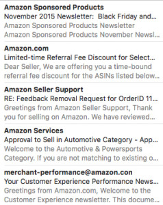 Amazon emails