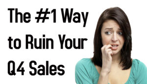 The #1 Way to Ruin Your Q4 Sales on Amazon