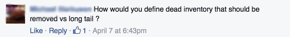 Dead Inventory Reply Facebook