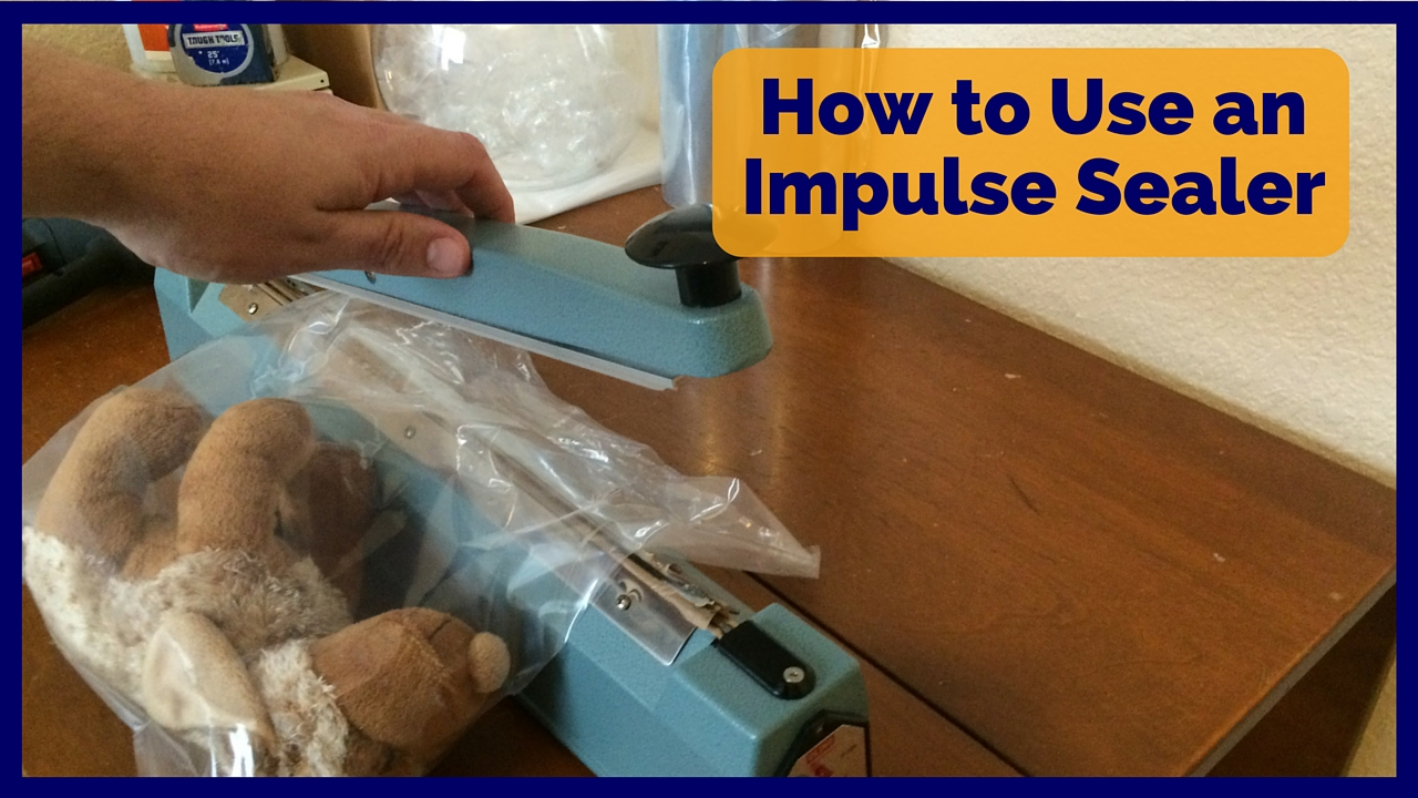 how to use an impulse sealer to poly bag and shrink