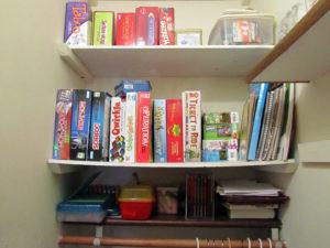 board game closet
