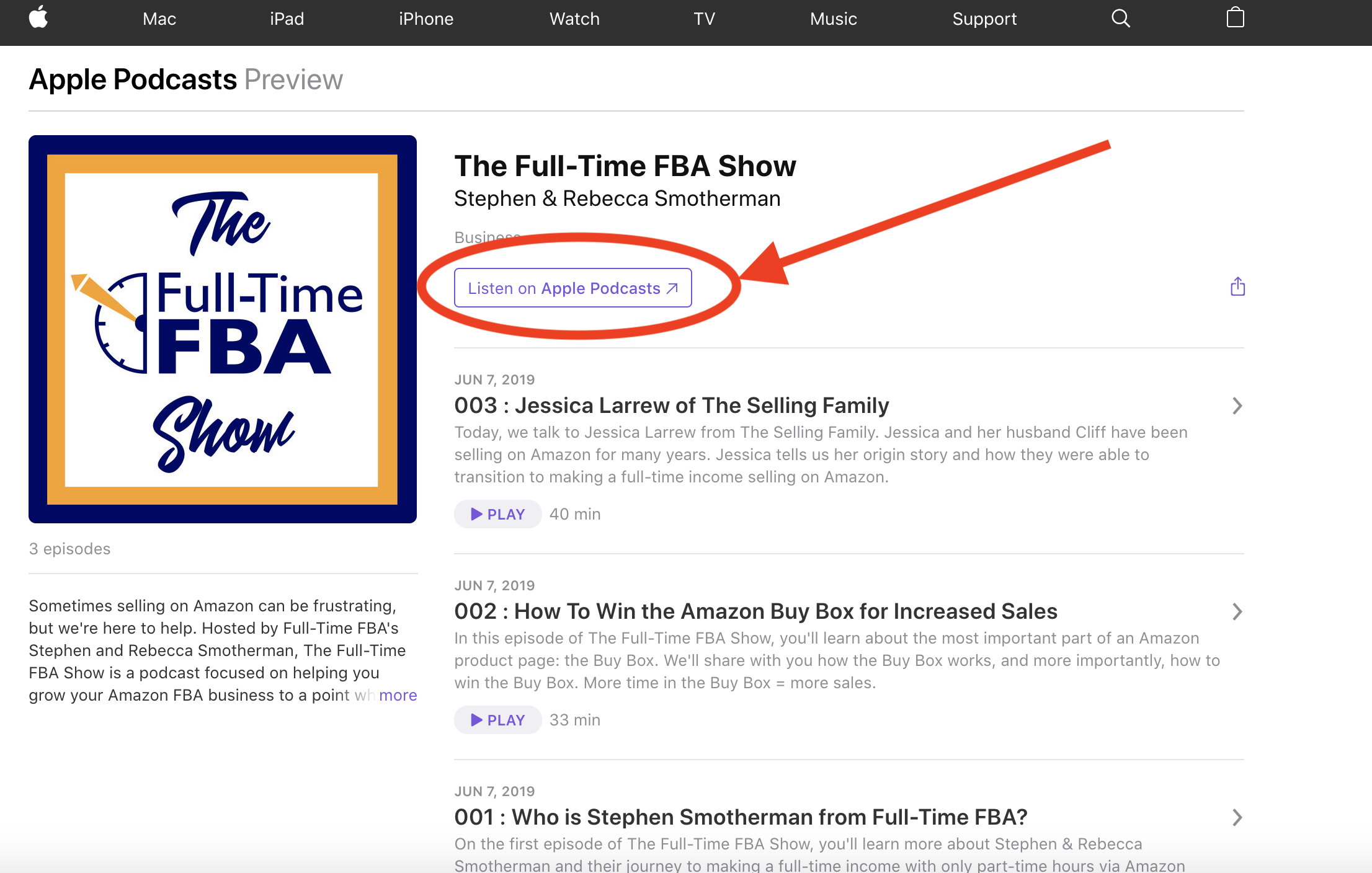 Subscribe, Download and Leave a Review for The Full-Time FBA Show
