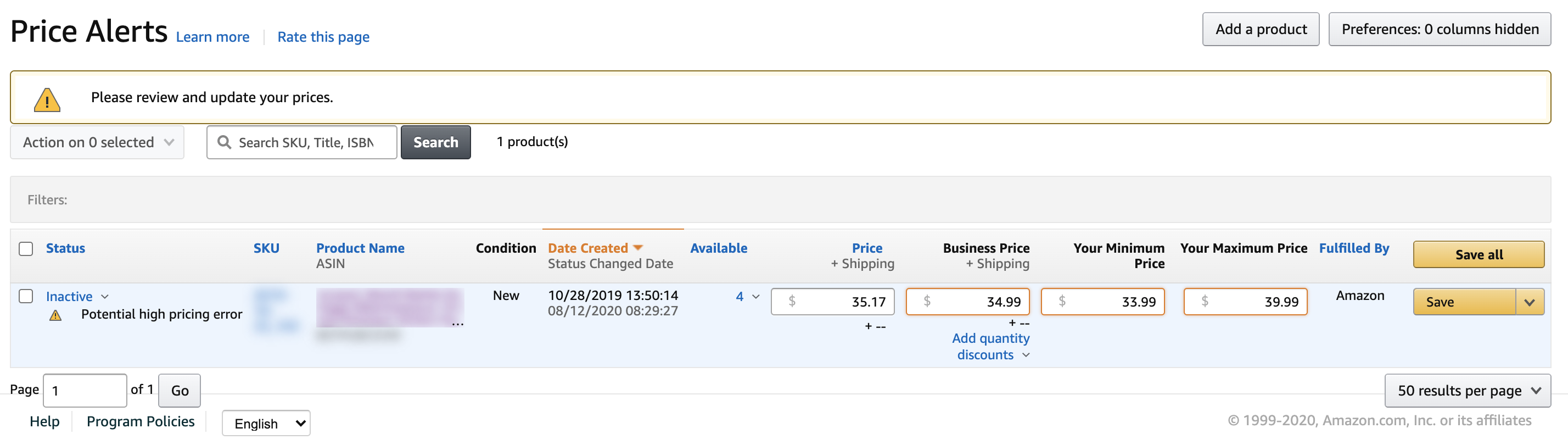 How To Fix Amazon S Potential High Price Error Alerts Full Time Fba